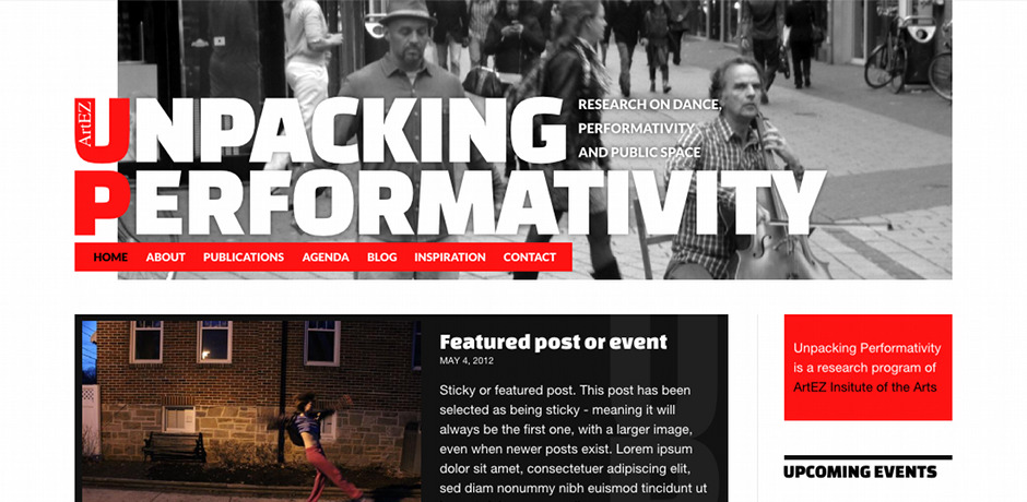 Site web en WordPress pour Unpacking Performativity